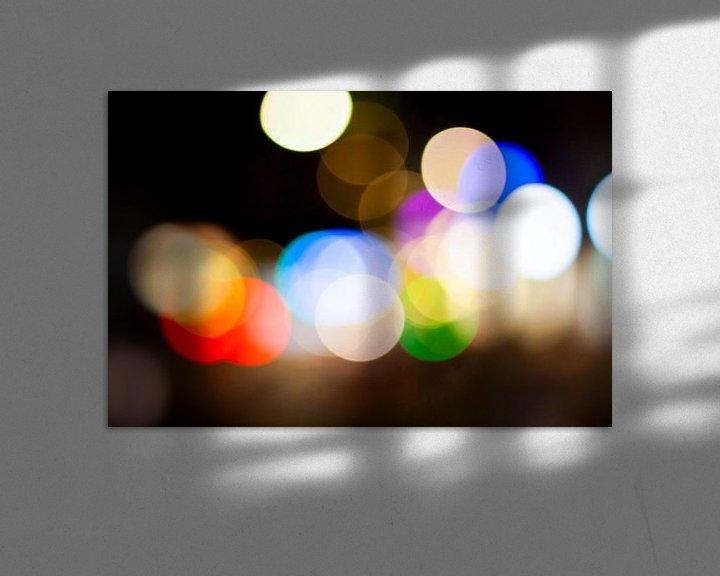 Sfeerimpressie: Abstract straatbeeld in de avond 2/4 van Mario Verkerk