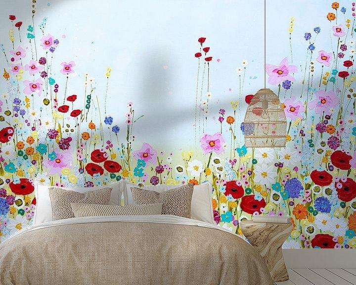 Beispiel fototapete: Malerei Blumenfeld von Bianca ter Riet
