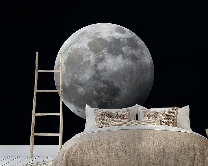 Impression: La Lune - à moitié éclipsée - noire sur Mario Verkerk