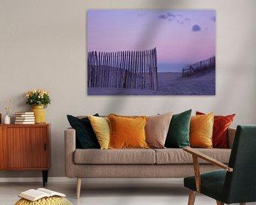 Fence at beach  van LHJB Photography