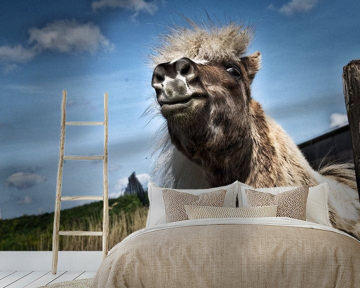 Beispiel fototapete: Das glückliche Pferd von Duo-Fotografie