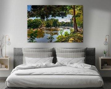 Zicht op de Suriname rivier, Suriname