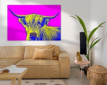 Fröhlich Bild eines schottischen Highlanders im Pop-Art-Stil