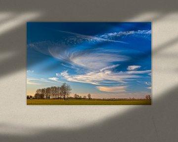Hollandse luchten tussen Garnwerd en Winsum, Groningen, Nederland van Henk Meijer Photography