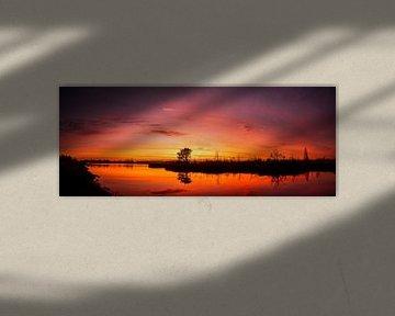Sunrise panorama van Jeroen Mikkers