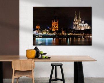 Stadtbild von Köln von Atelier Liesjes