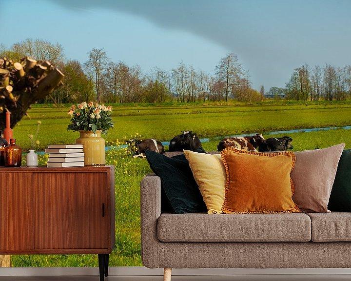 Sfeerimpressie behang: Hollandse Landschappen van Brian Morgan