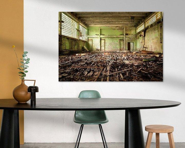 Beispiel: Verlassene Turnhalle in Tschernobyl. von Roman Robroek