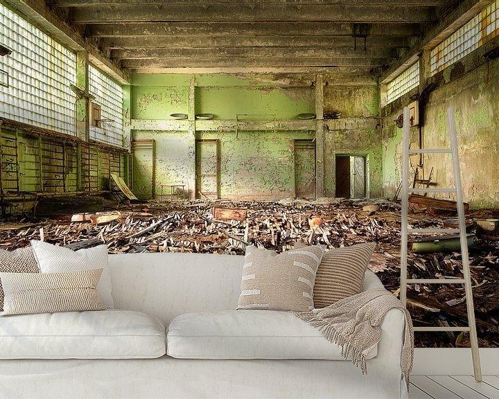 Beispiel fototapete: Verlassene Turnhalle in Tschernobyl. von Roman Robroek