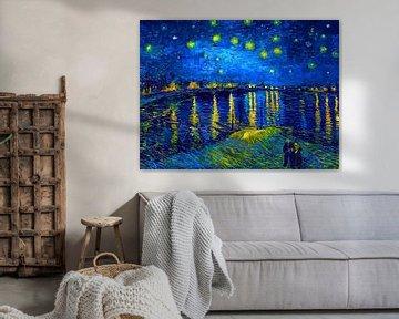 Sternennacht über der Rhone - Vincent van Gogh - 1888