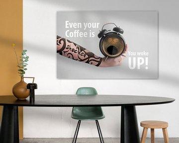 Even your coffee is shocked you woke up van Elianne van Turennout