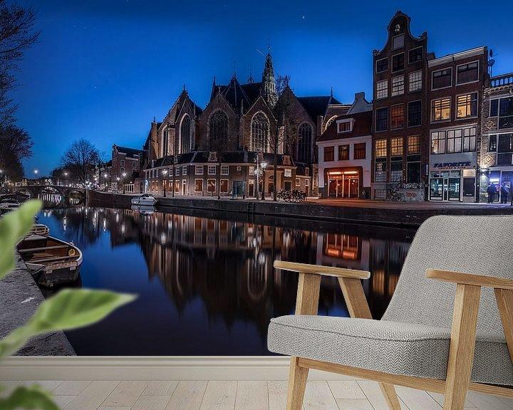 Sfeerimpressie behang: Amsterdamse Grachten van Mario Calma