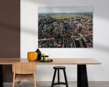 Zicht op Sint-Jan en Bossche Broek in Den Bosch van mooidenbosch