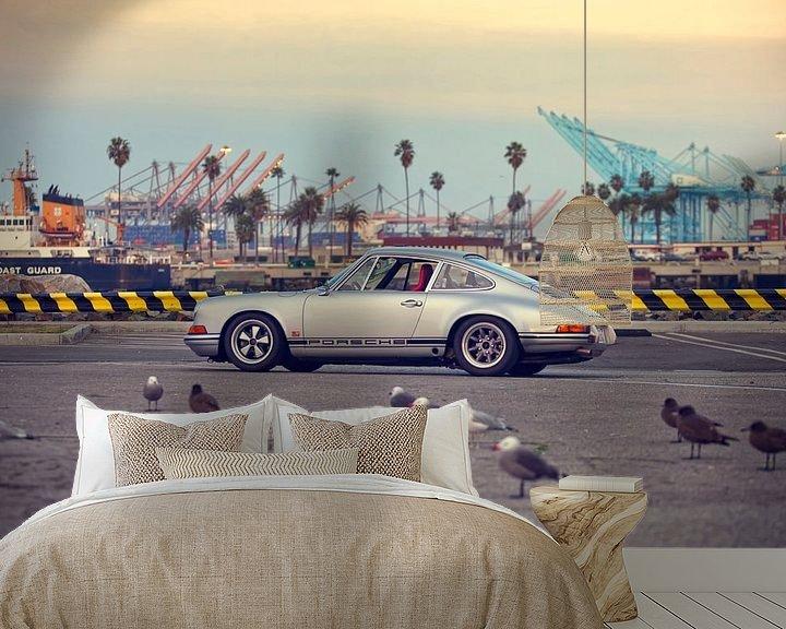 Sfeerimpressie behang: San Pedro Hot Rod - Porsche 911 van Maurice van den Tillaard