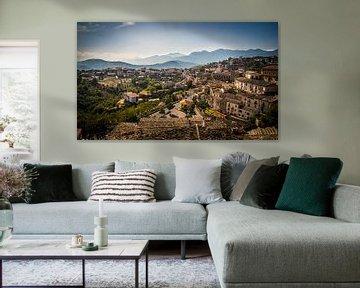 Zicht op Altomonte, Italië fotoprint van Manja Herrebrugh - Outdoor by Manja