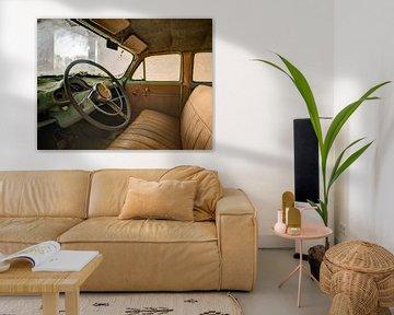 vintage retro auto interieur urbex urban exploring ford consul van sam vanneste