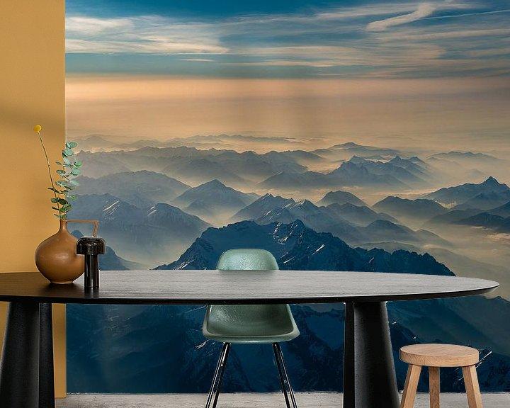 Beispiel fototapete: Dunst in den Tälern um die Zugspitze von Denis Feiner