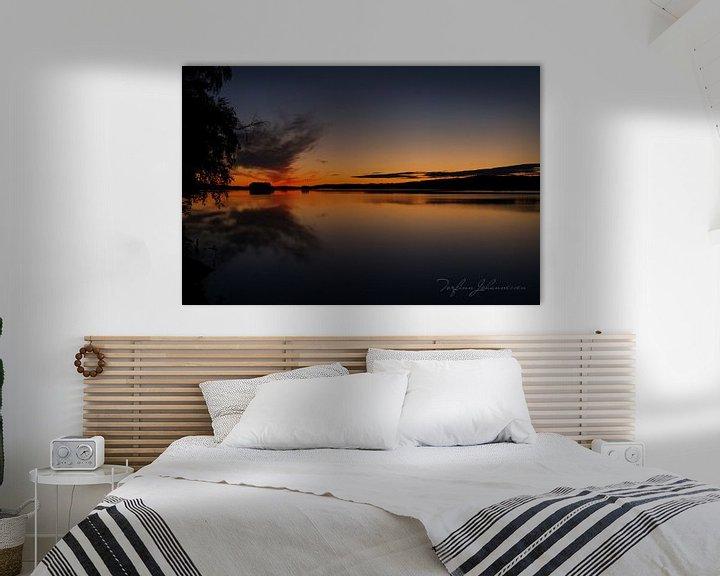 Sfeerimpressie: Middernacht In Zweeds Lapland 2 van Torfinn Johannessen