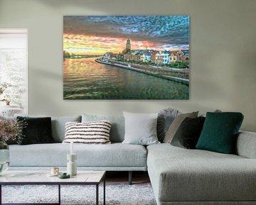 Kleurrijk kunstwerk van Deventer in de stijl van Renoir