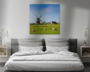 """Windmühle """"De Jonge Held"""", Leegkerk, Groningen, Niederlande von Henk Meijer Photography"""