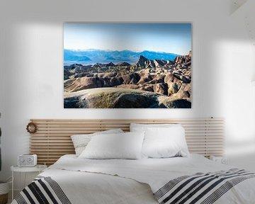 Vallée de la mort, Zabriskie Point sur Keesnan Dogger Fotografie