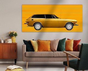 Volvo P1800 ES in yellow mixed von aRi F. Huber