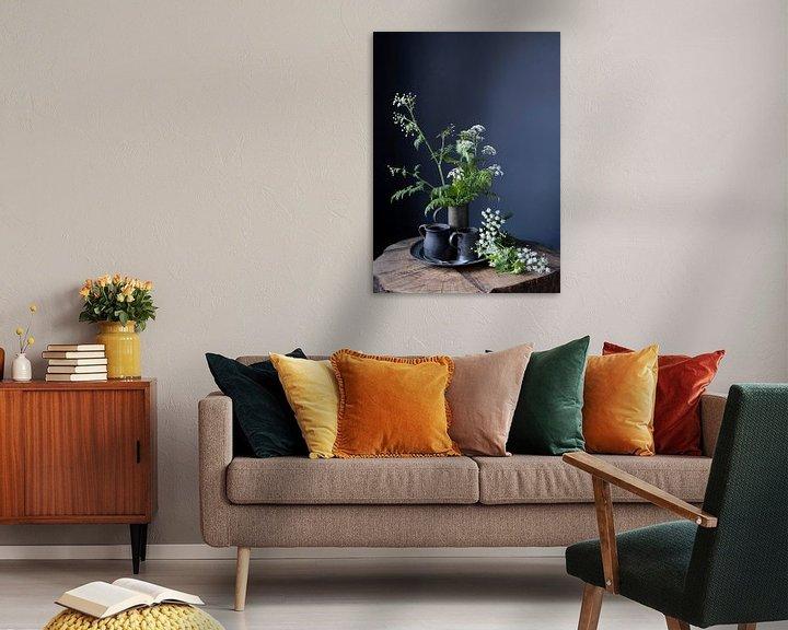Sfeerimpressie: Stilleven met fluitenkruit en tin op hout [verticaal] van Affect Fotografie