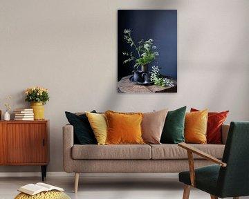Stilleven met fluitenkruit en tin op hout [verticaal] van Affect Fotografie