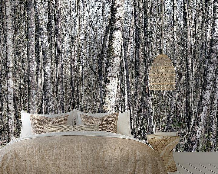 Sfeerimpressie behang: In het bos van Peter Norden