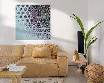 abstrakter geometrischer Hintergrund von Ariadna de Raadt