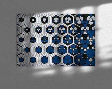 abstrakt-geometrischer Hintergrund mit grafischen Elementen von Ariadna de Raadt