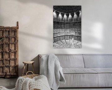 Silo mit Lichtpunkten von Okko Huising - okkofoto