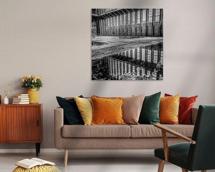 Beispiel: Spiegelung von Fenstern und Landschaft von einem stillgelegten Kraftwerk von Okko Huising - okkofoto