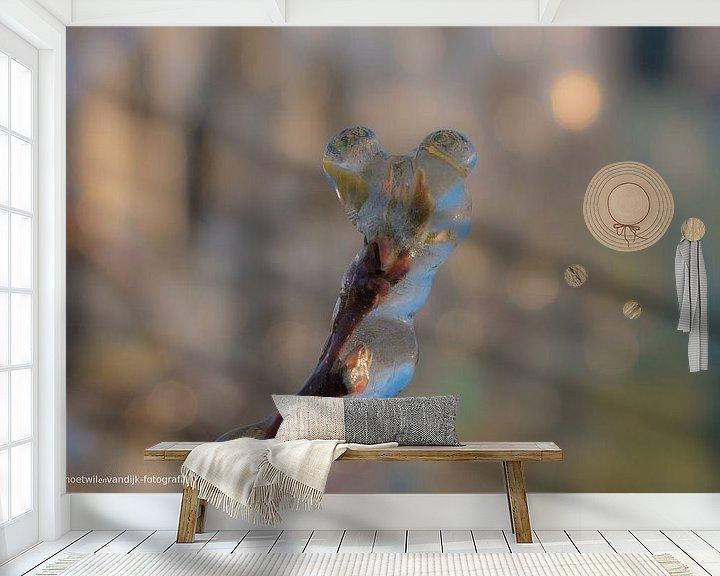Sfeerimpressie behang: Beregenen bloesem van Moetwil en van Dijk - Fotografie