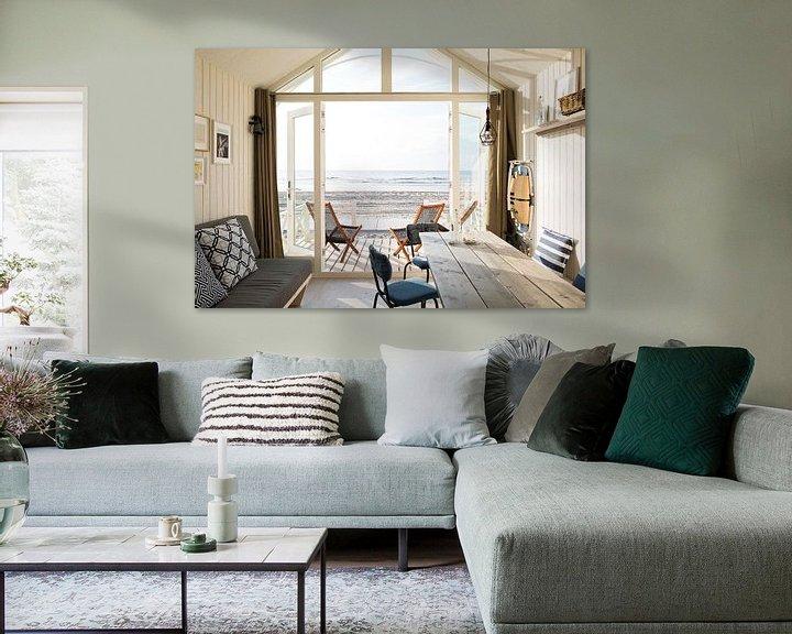Impression: Haags Strandhuisje avec vue sur la mer sur Maurice Haak