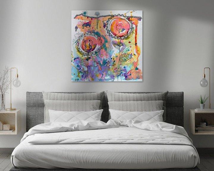 Sfeerimpressie: Abstracte bloemen van Jessica van Schijndel