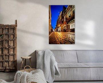 Warmoestraat in binnenstad Haarlem - kleur