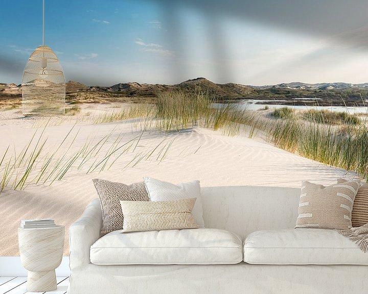Sfeerimpressie behang: Stuifzand in de duinen van Fotografie Egmond