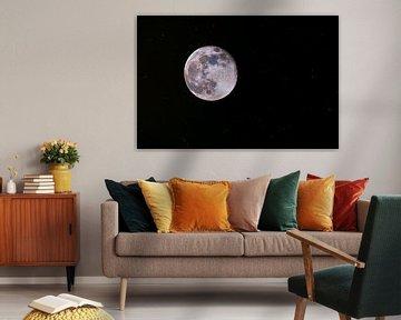 Volle maan, mineralen zichtbaar van Rob Smit