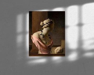 Trompe l'Oeil mit einer Büste der Venus, Caesar van Everdingen