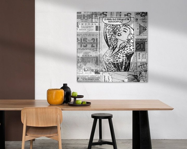 Beispiel: Pop-Art in Schwarz-Weiß von Atelier Liesjes