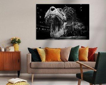 T-Rex-Kopf will Sie angreifen