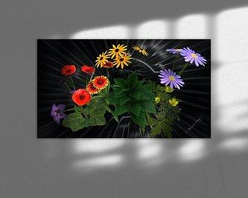 3d-Illustration. Blume küsst Blumen. von Norbert Barthelmess