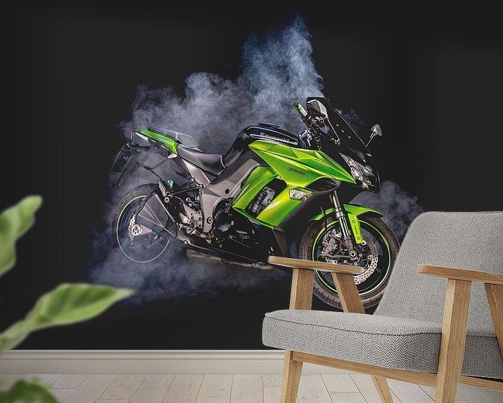 Beispiel fototapete: Kawasaki z1000SX von Sebastiaan van Stam Fotografie