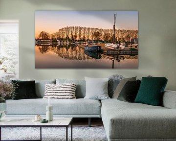 Spiegelungen am Rheinhafen von Jens Sessler