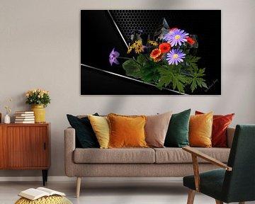 3d-illustratie, Sillleben de magie van bloemen. van Norbert Barthelmess