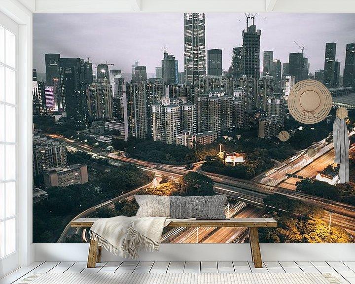 Beispiel fototapete: Shenzhen Skyline von Flave_de