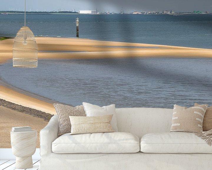 Sfeerimpressie behang: 0290 Sandbar van Adrien Hendrickx