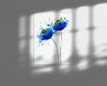Blauer Mohn von Jessica van Schijndel