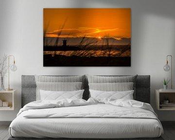 Scheveningen Sunset van Marc Hederik Fotografie